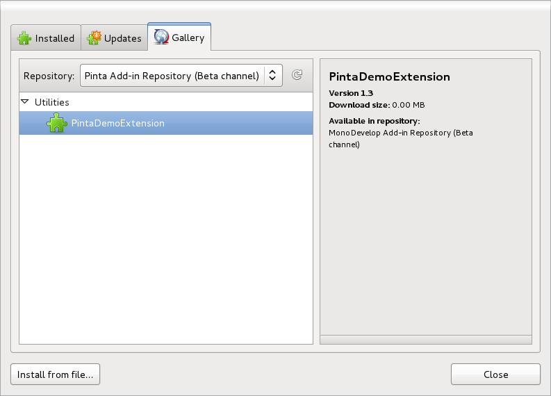 Pinta Add-in Installer with a remote repository!